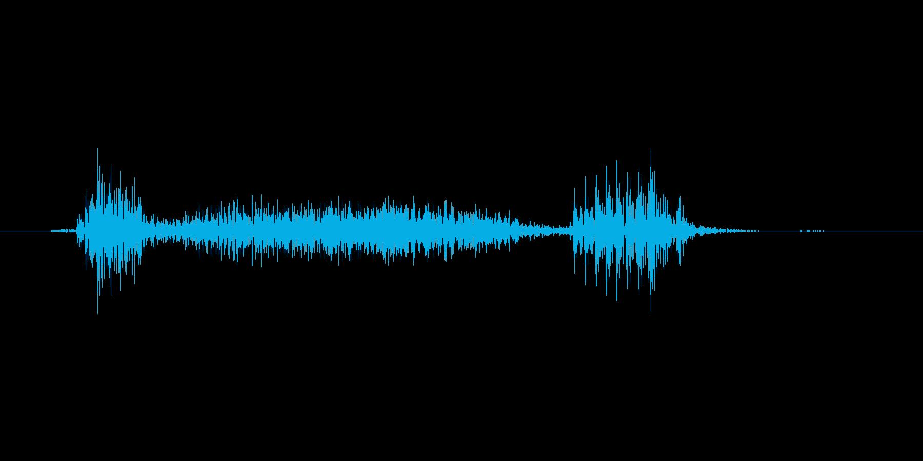 風邪の咳 ゴホッ1の再生済みの波形