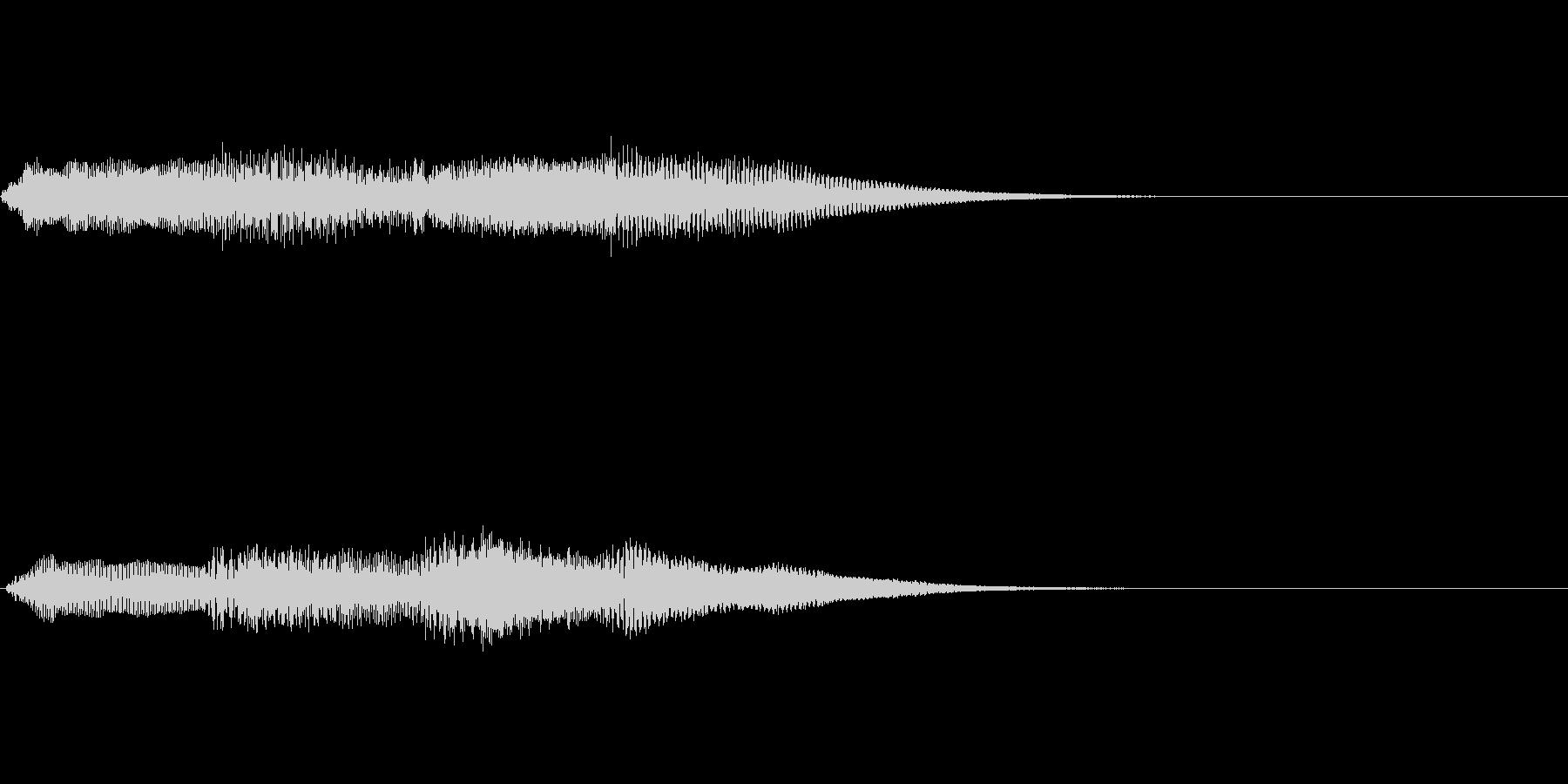 ピンポンパンポン ピアノ 早い上昇の未再生の波形