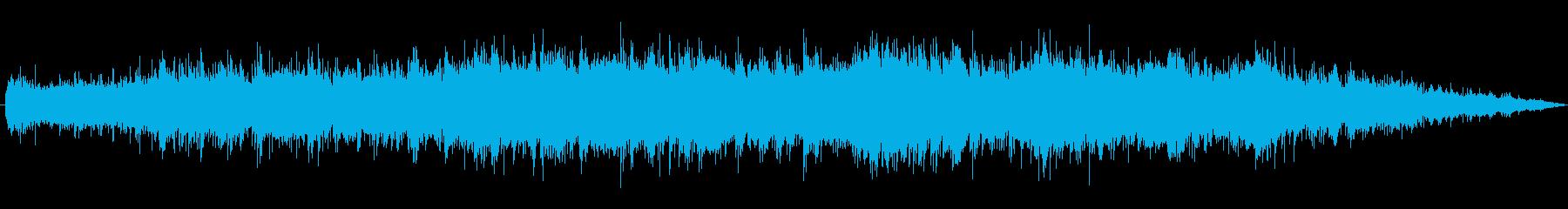 神秘的な雰囲気のゆったりしたインストの再生済みの波形