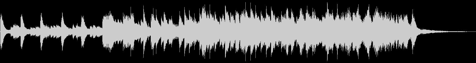 癒し・睡眠導入・ソルフェジオ使用・ピアノの未再生の波形