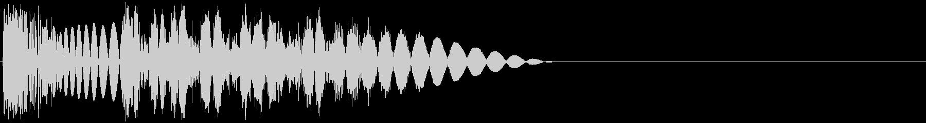 ズビシッ(パンチ・打撃攻撃・一発・叩く)の未再生の波形