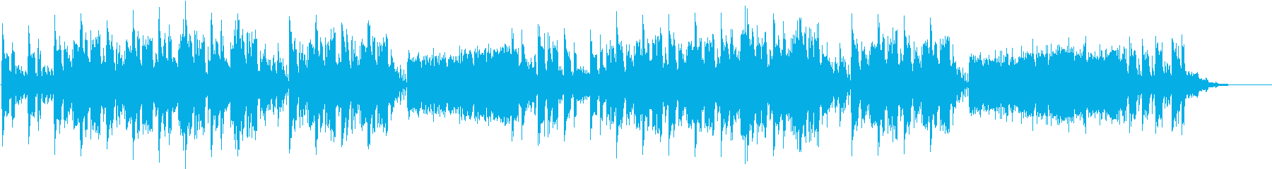 寂しいイメージのフュージョンの再生済みの波形