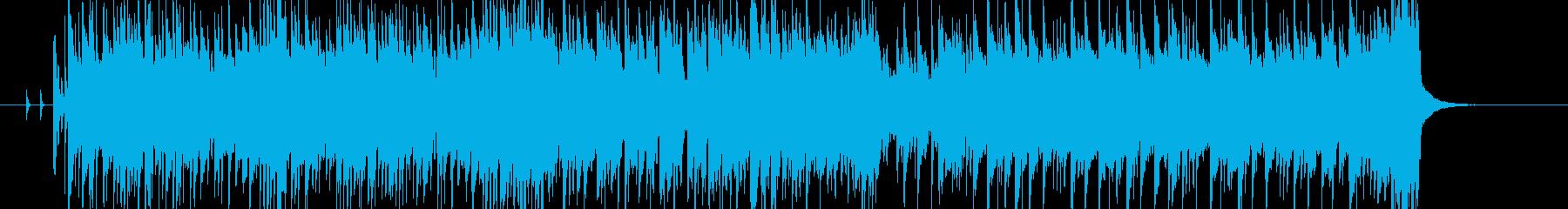 爽やかなピアノと動きのあるベースの再生済みの波形