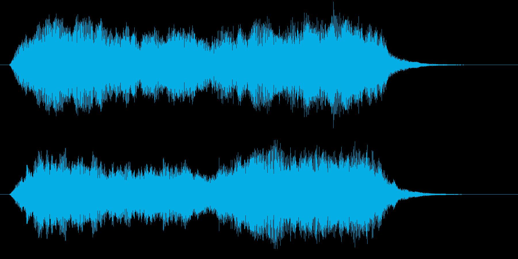 幻想的で大らかなヒーリングジングルの再生済みの波形