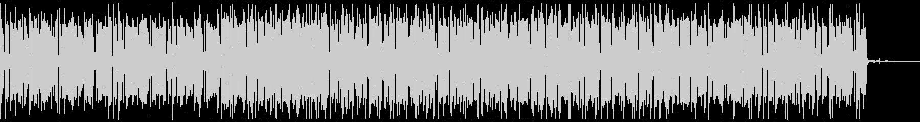 ベースとパーカッションの怪しいBGMの未再生の波形