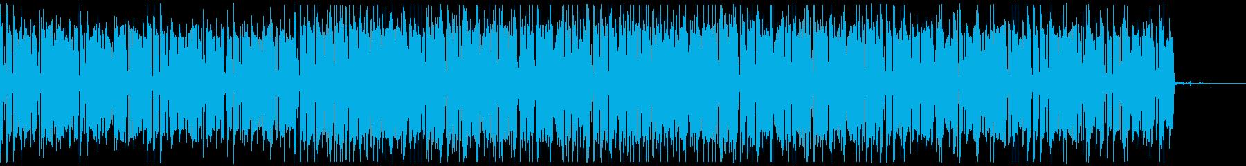 ベースとパーカッションの怪しいBGMの再生済みの波形