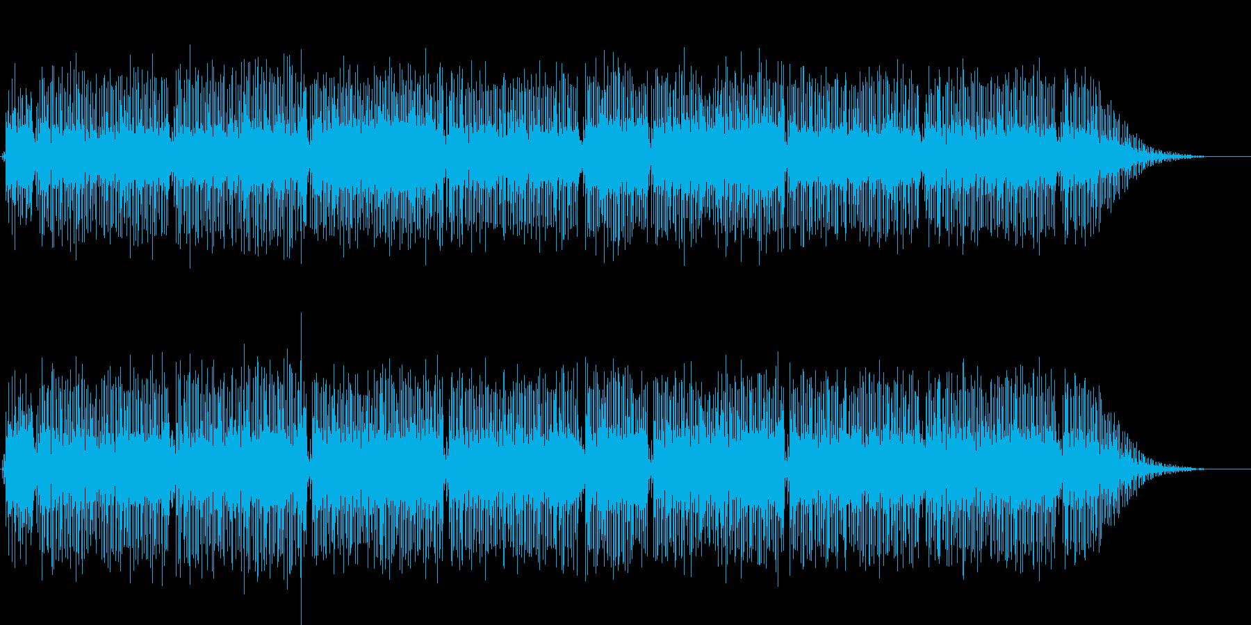 明るいニューミュージックの再生済みの波形