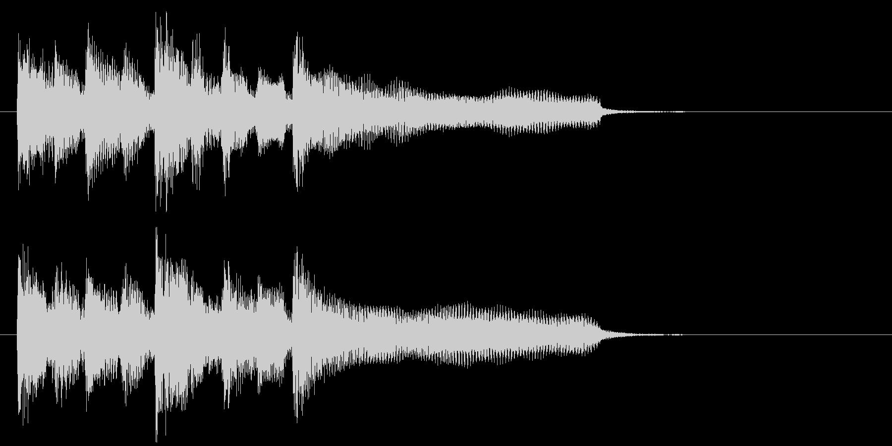 ジングル、日常アニメ系、リコーダー、笛の未再生の波形