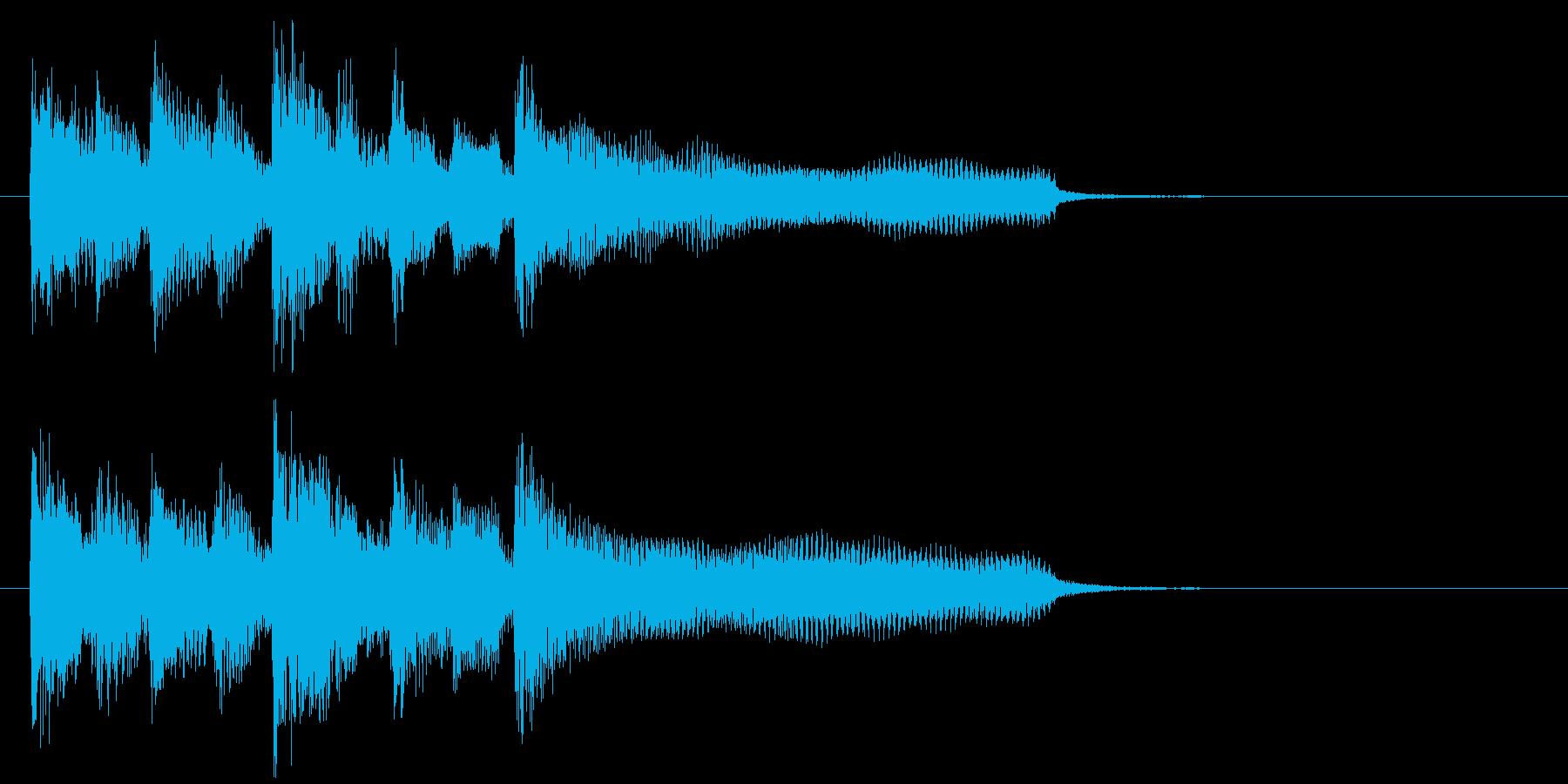 ジングル、日常アニメ系、リコーダー、笛の再生済みの波形