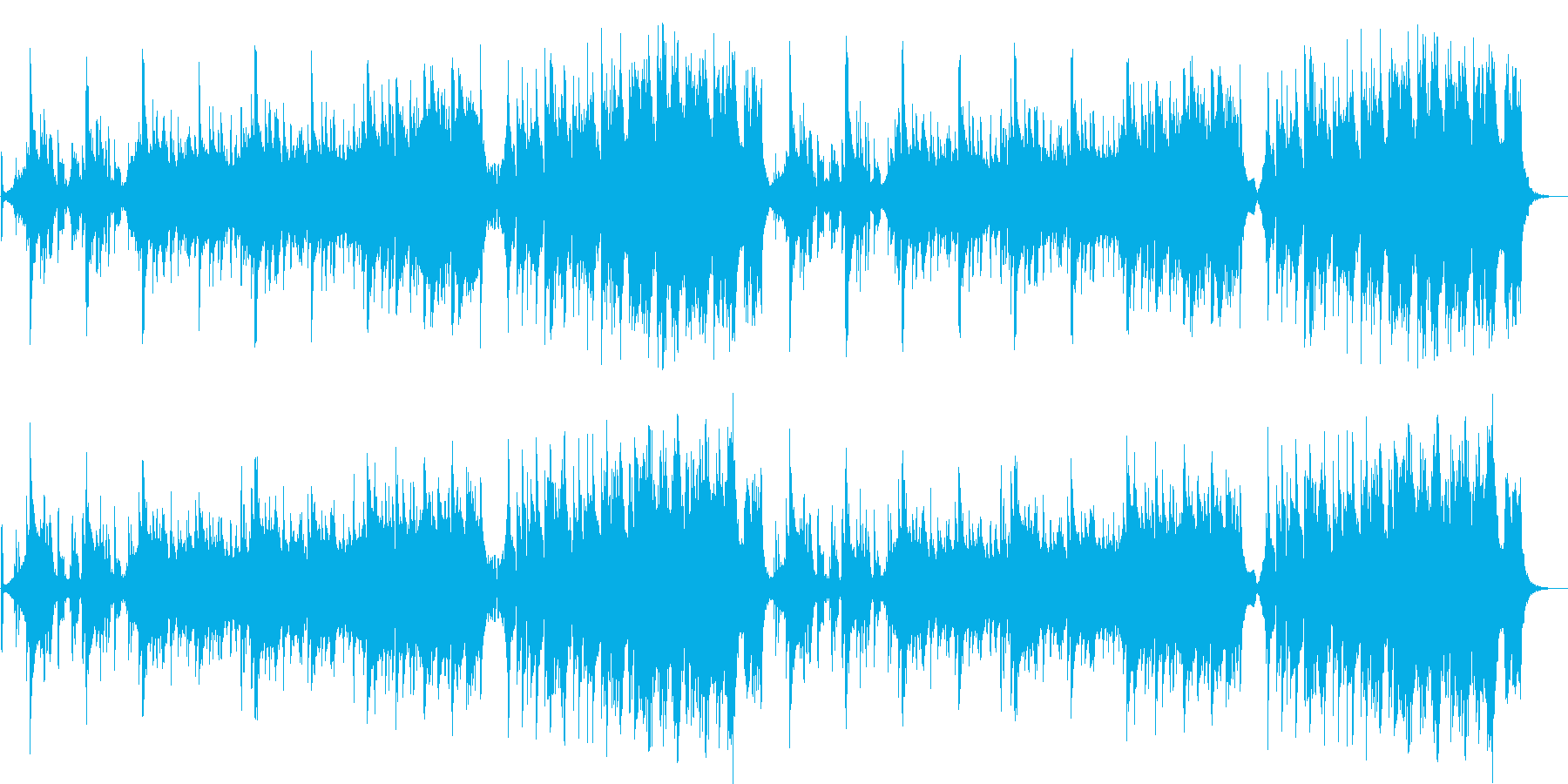 クールなフュージョン曲の再生済みの波形