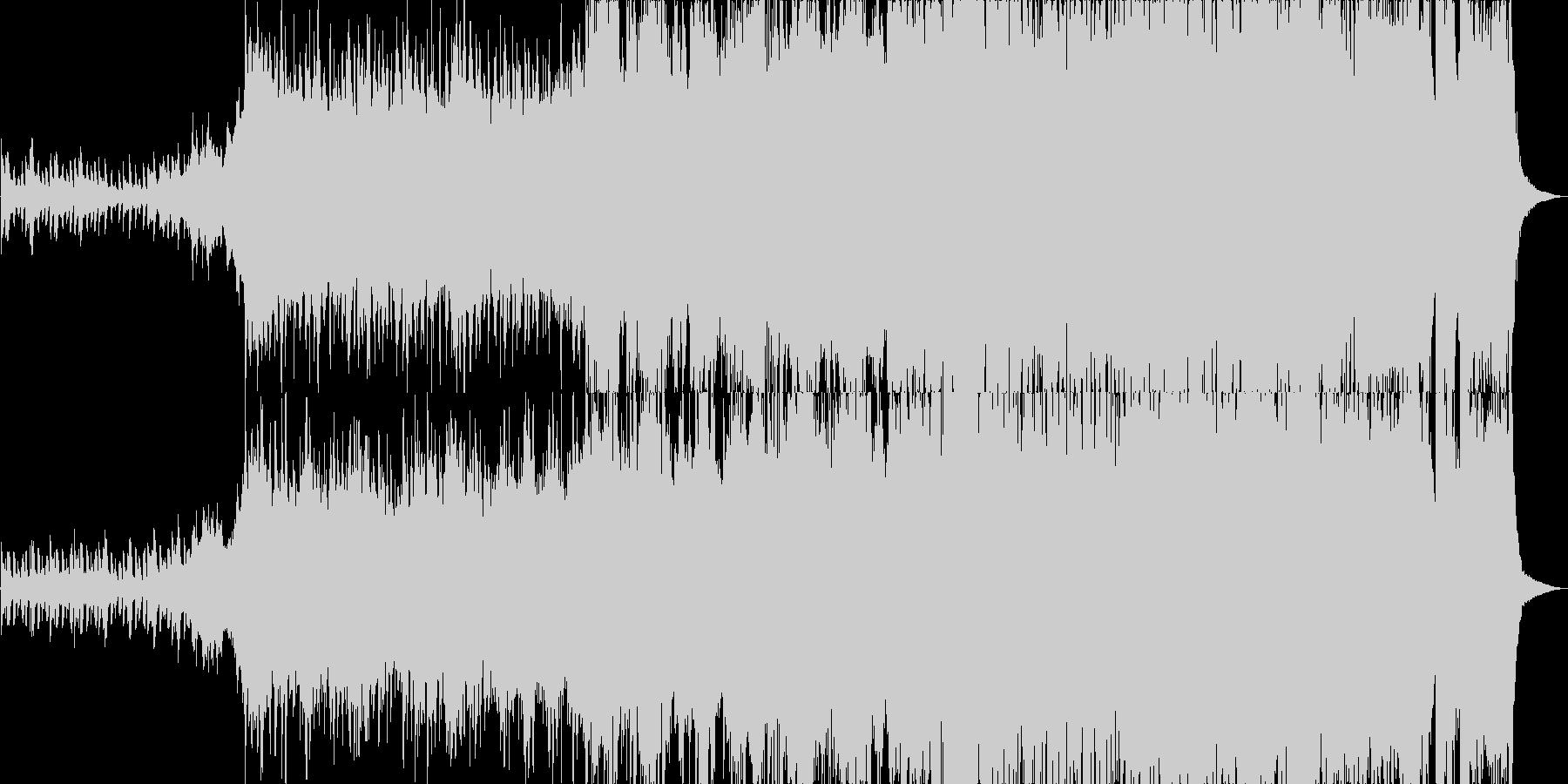 ピアノとオーケストラの哀愁漂うジングルの未再生の波形
