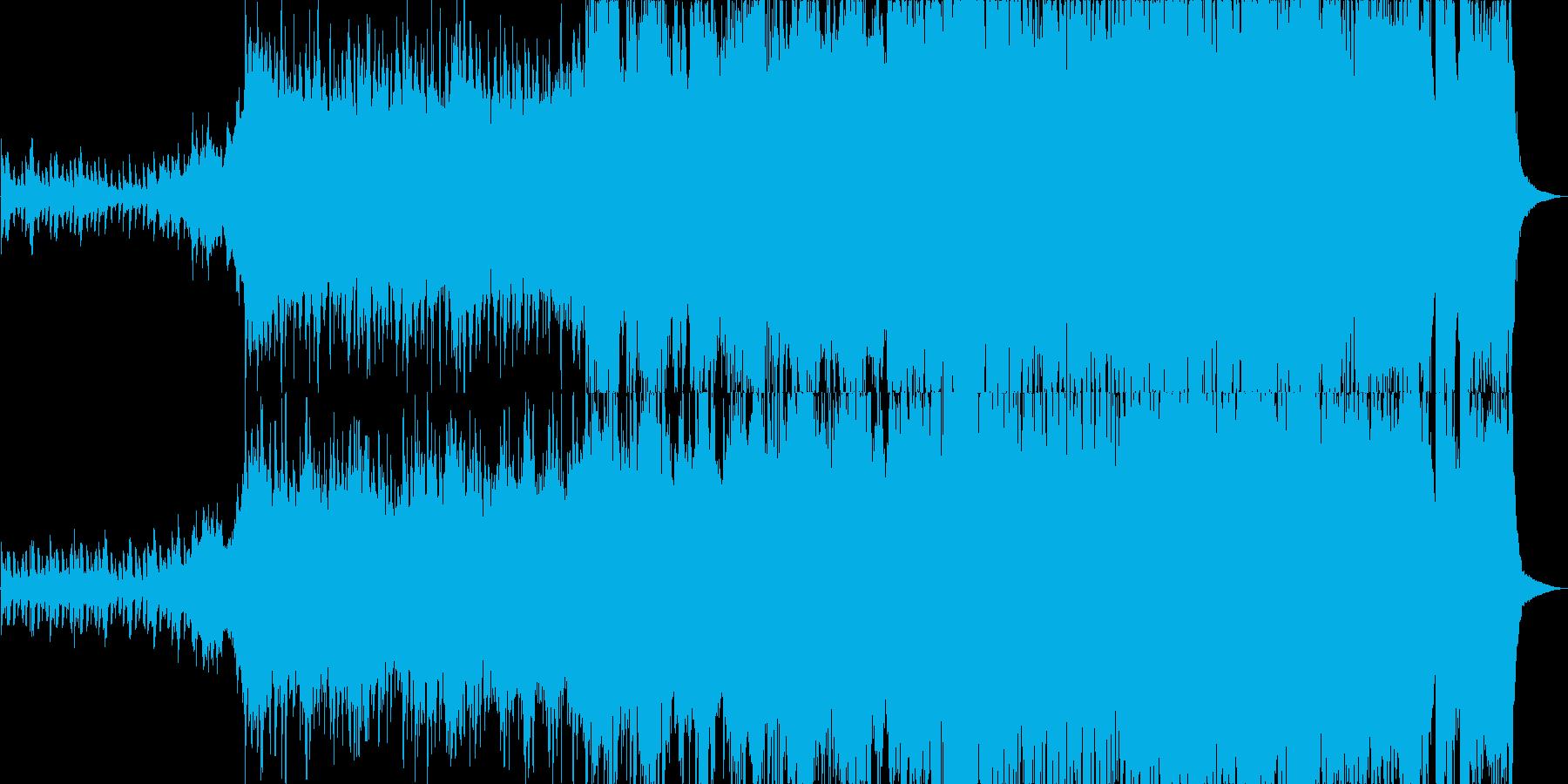 ピアノとオーケストラの哀愁漂うジングルの再生済みの波形