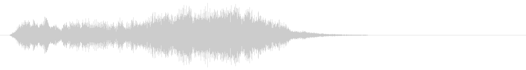 オーケストラによるサウンドロゴの未再生の波形