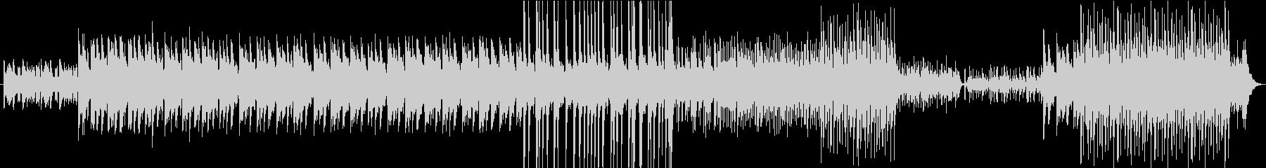 和楽器を使用した疾走感ある曲の未再生の波形