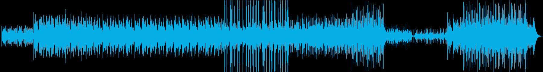 和楽器を使用した疾走感ある曲の再生済みの波形