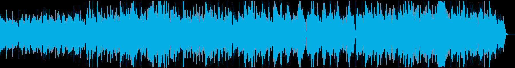 神秘的で柔らかな和風BGMの再生済みの波形