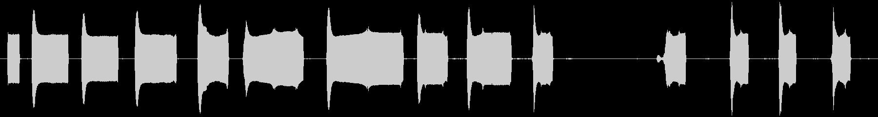 トーンレーザー変調の未再生の波形