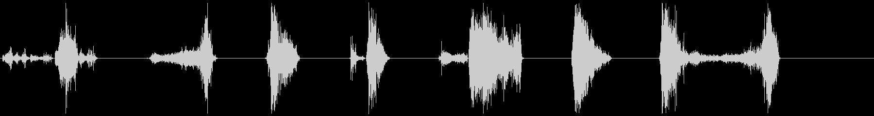 ゾンビの悪質な攻撃16-22の未再生の波形