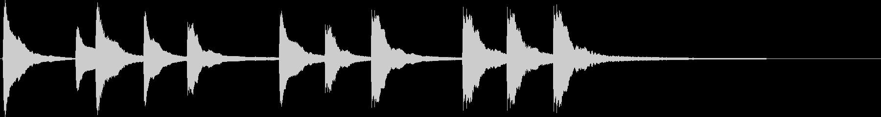 和風の単体素材です。の未再生の波形
