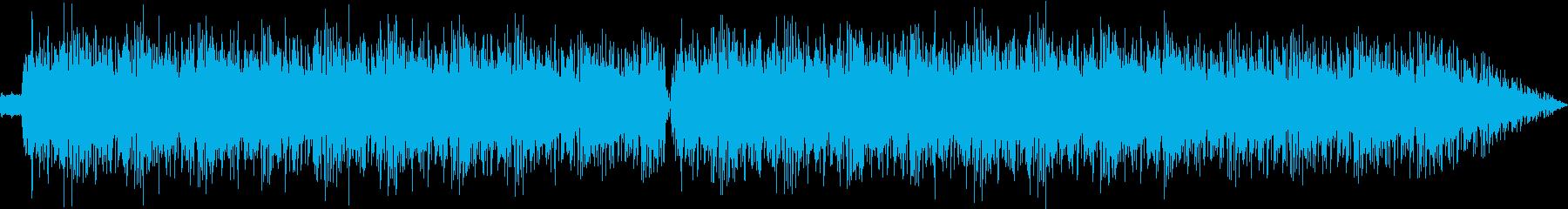 シンプルで情緒的なテクノ曲の再生済みの波形