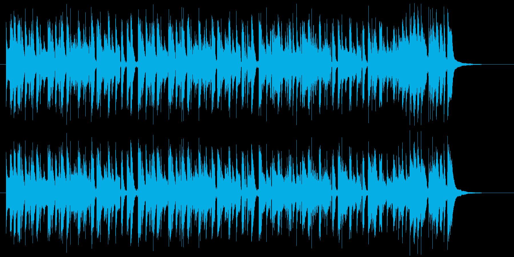 爽やかなピアノ軽快なポップ曲の再生済みの波形