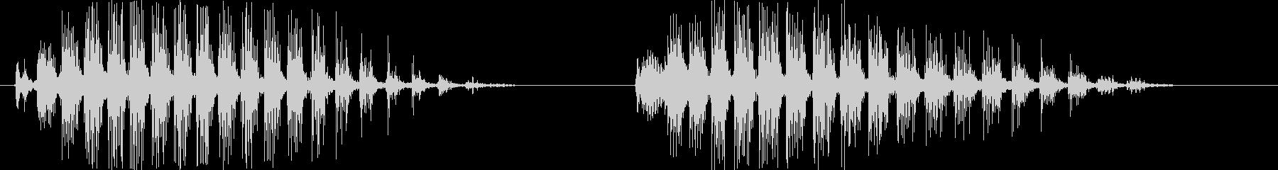 カララカララ(カラスの鳴き声)擬音唸り2の未再生の波形