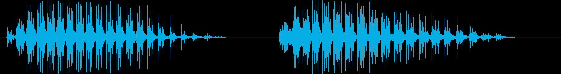 カララカララ(カラスの鳴き声)擬音唸り2の再生済みの波形