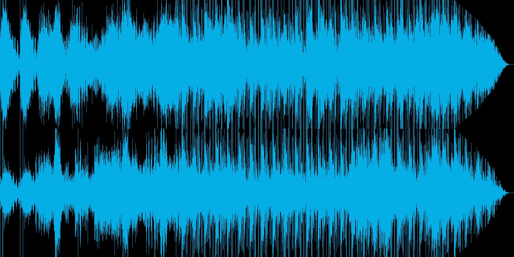 緊迫感のあるウイルス徘徊を連想させる楽曲の再生済みの波形