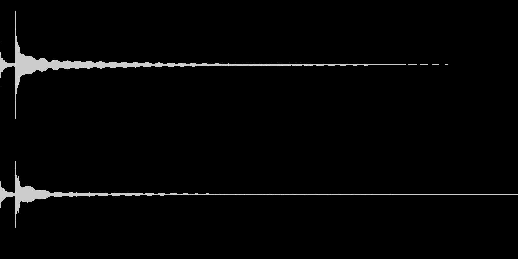 [生録音]チン、チーン(おりん)02-3の未再生の波形