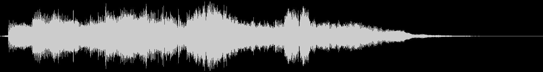 ラジオジングル、サックス、エンディングの未再生の波形