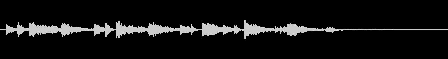 ゲームオーバーのジングル(ピアノ)の未再生の波形