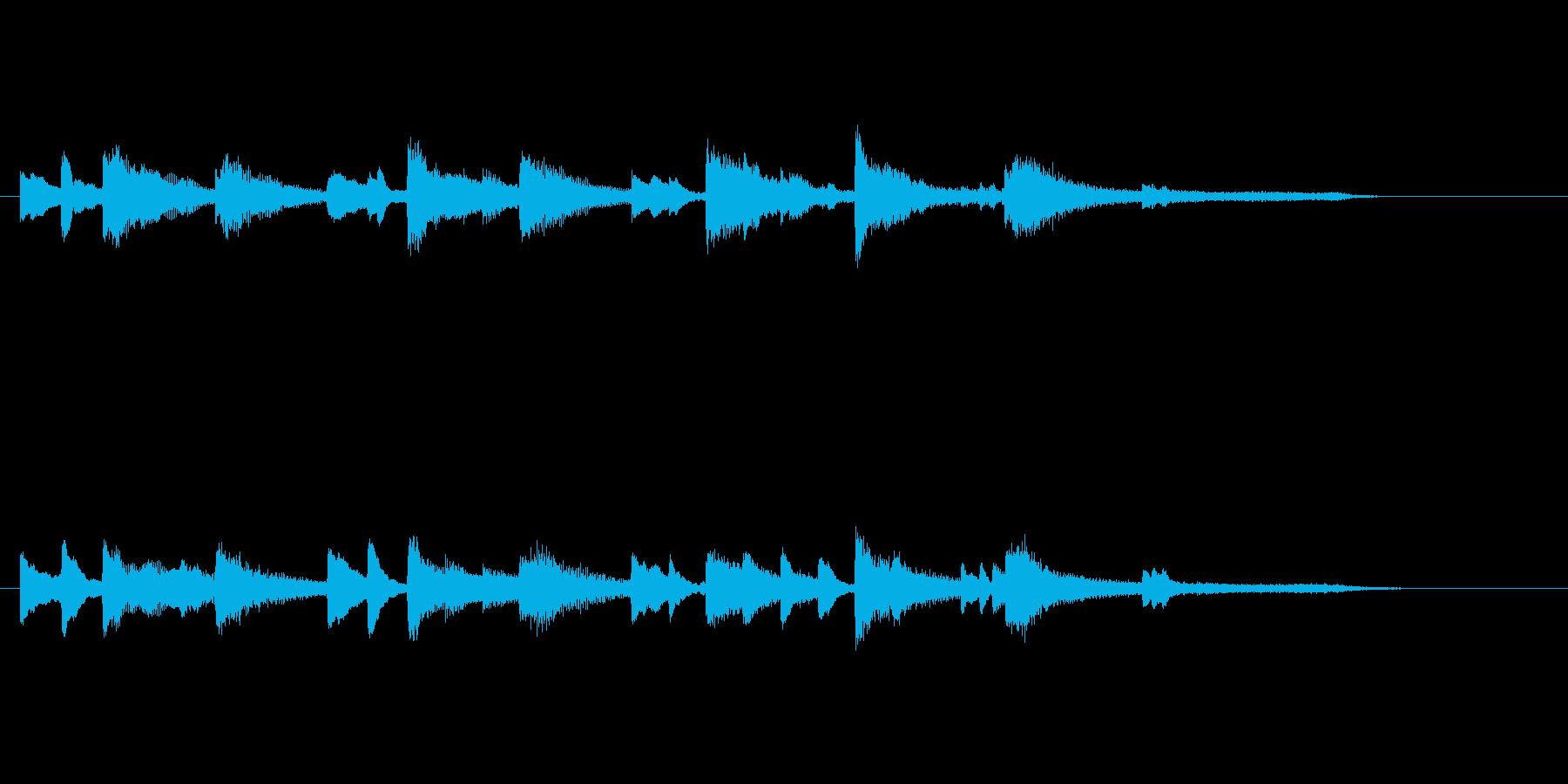 ゲームオーバーのジングル(ピアノ)の再生済みの波形