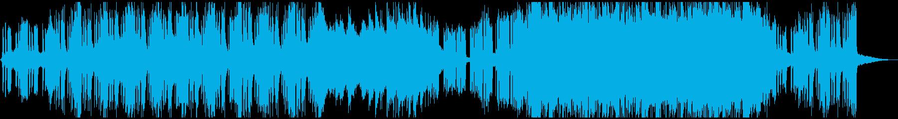 ゆったりしたロック系ゴリゴリBGMの再生済みの波形
