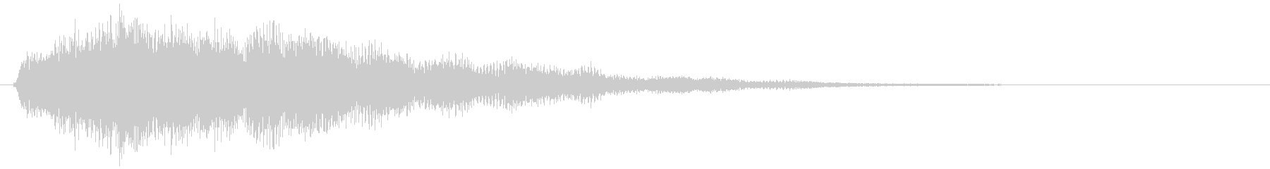 サウンド・ロゴ2、システム起動音の未再生の波形