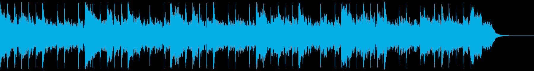 フリーゲームのホラーパートの再生済みの波形