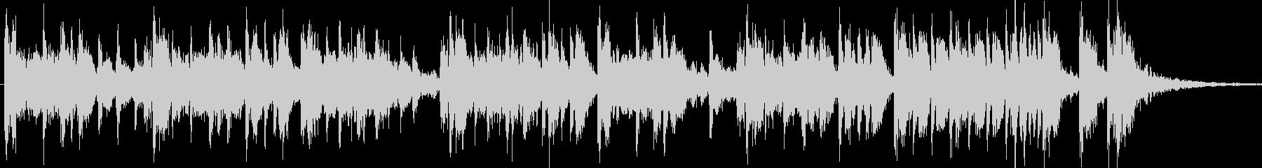 津軽三味線と太鼓のクールなジングル15秒の未再生の波形