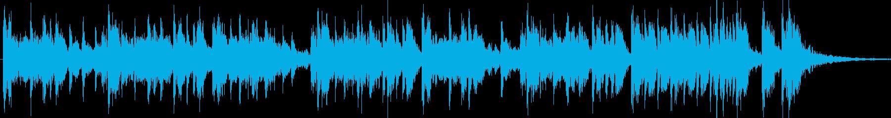 津軽三味線と太鼓のクールなジングル15秒の再生済みの波形