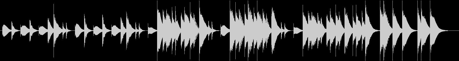 ほのぼのとしたマリンバショートVerの未再生の波形