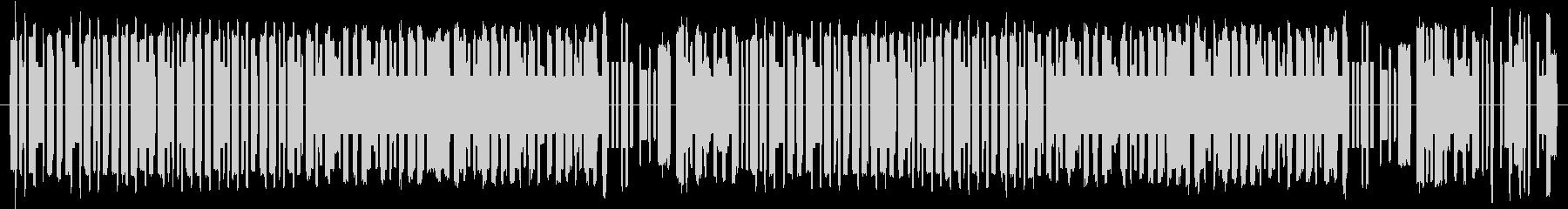 ロシア風、8bitサウンドのBGMの未再生の波形