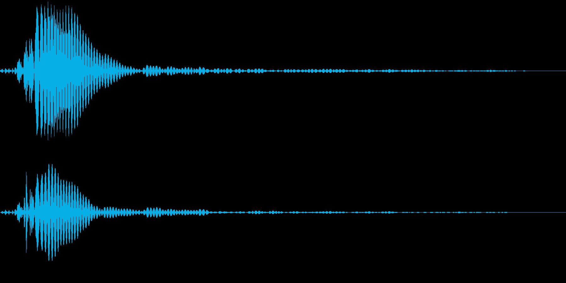 ポン(タップ・クリック音)の再生済みの波形