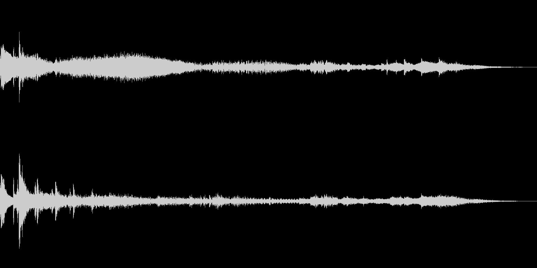 振り子時計がテーマのアイキャッチの未再生の波形