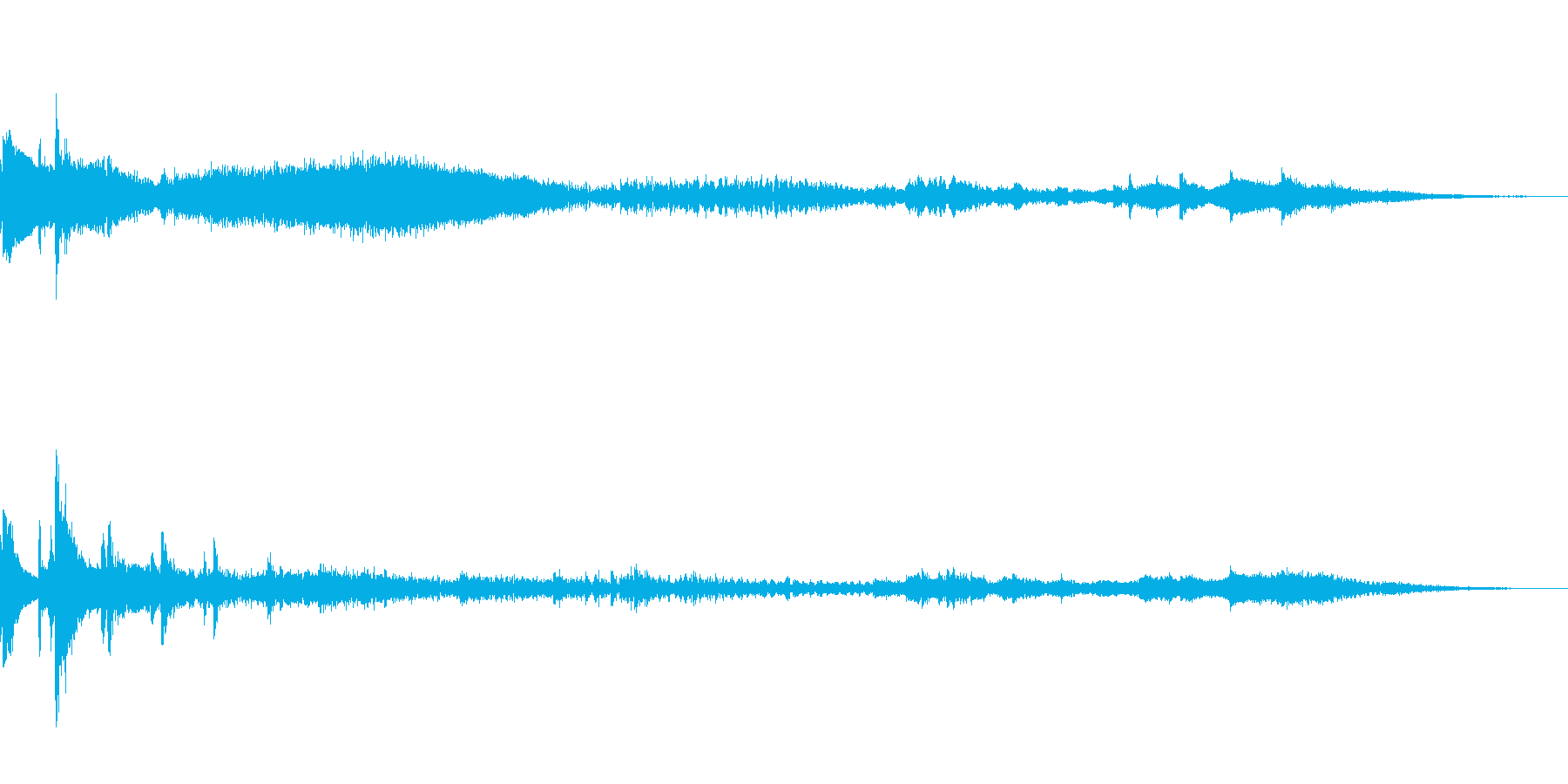 振り子時計がテーマのアイキャッチの再生済みの波形