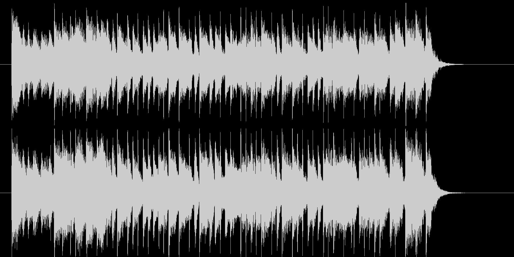 オープニングにぴったりのシンセ曲の未再生の波形