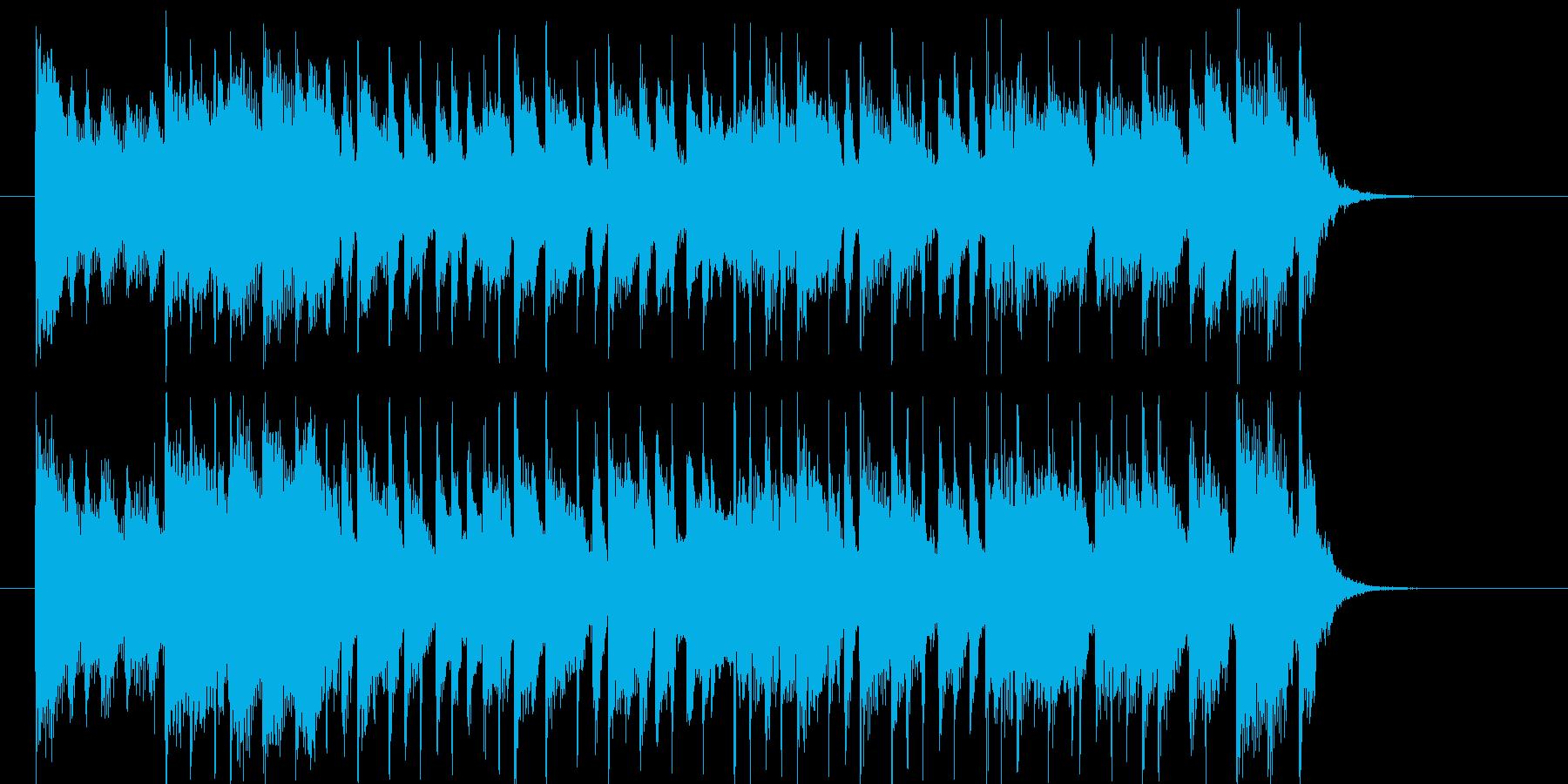 オープニングにぴったりのシンセ曲の再生済みの波形