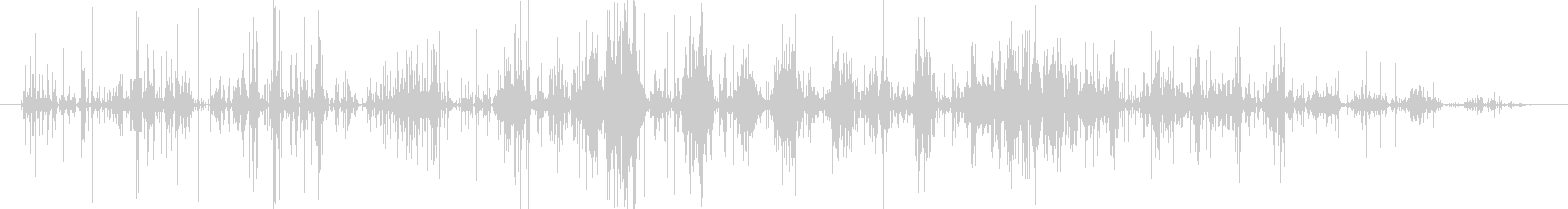 インスタントラーメン潰す音 バリバリの未再生の波形