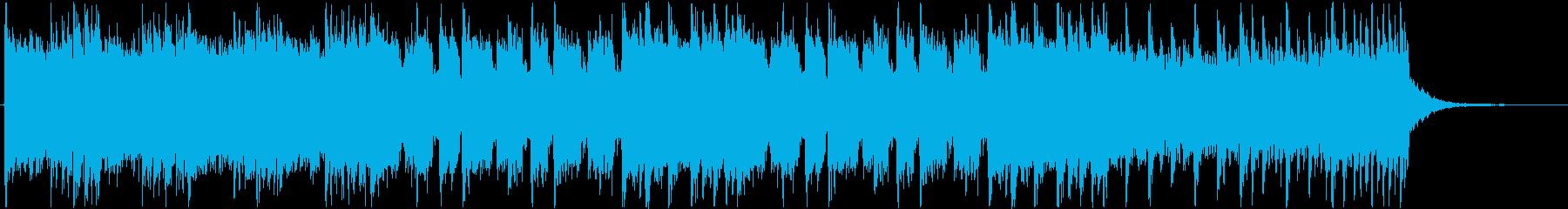 本格的なヘヴィメタル系のジングルの再生済みの波形