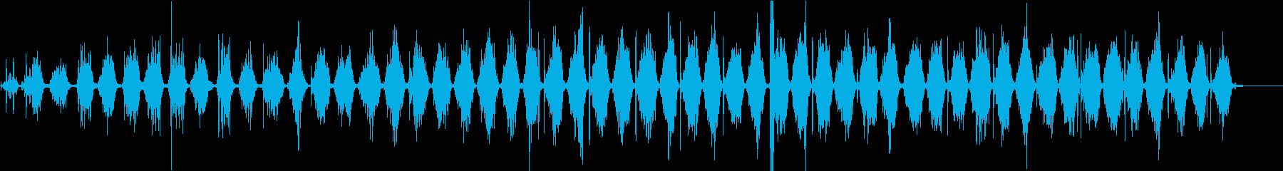 【生録音】ノコギリで物を切る音 1の再生済みの波形
