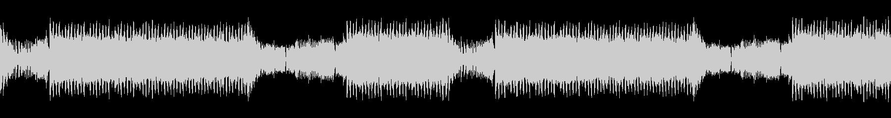 勢いのあるギターと電子音のEDMの未再生の波形