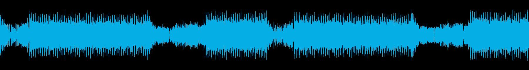勢いのあるギターと電子音のEDMの再生済みの波形