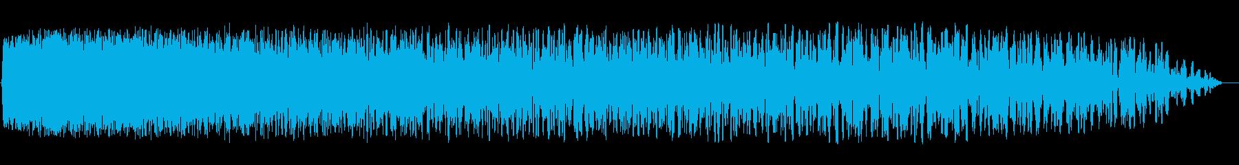 メカニカルな打ち上げ音の再生済みの波形